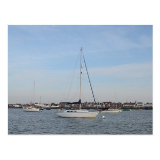 Yacht Moored On The River Crouch Postcard