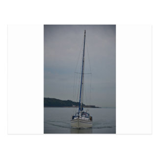 Yacht Motoring Postcard