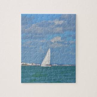 Yacht Near Eastbourne Jigsaw Puzzle