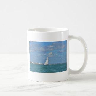 Yacht Near Eastbourne Mug