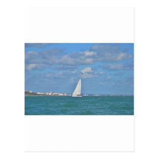 Yacht Near Eastbourne Postcard
