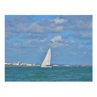 Yacht Near Eastbourne Post Cards