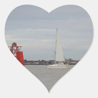 Yacht Orca Heart Sticker