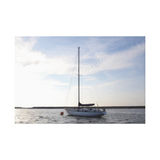 Yacht Orla Of London Stretched Canvas Print