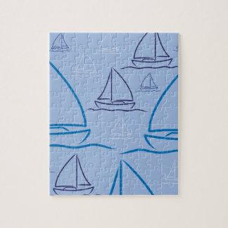 Yacht pattern jigsaw puzzle