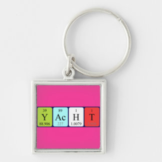 Yacht periodic table keyring keychains