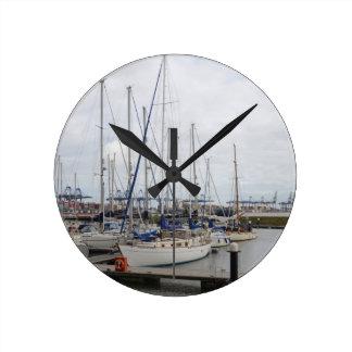 Yacht Phoenix Of Hamble Wall Clock