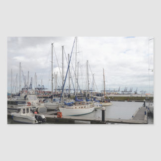 Yacht Phoenix Of Hamble Rectangular Sticker