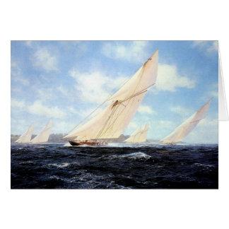 Yacht race card