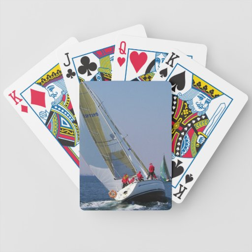 Yacht Racing In The Mar Menor Bicycle Playing Cards