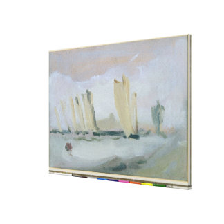 Yacht Racing on the Solent, previously attributed Canvas Print