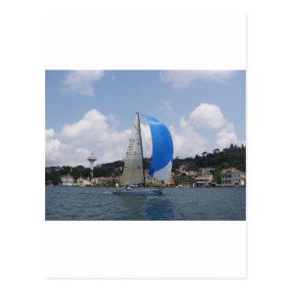 Yacht Racing Postcard