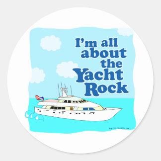 Yacht Rock Classic Round Sticker