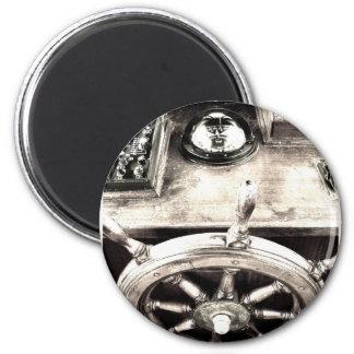Yacht rudder. 2 inch round magnet