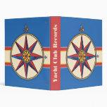 Yacht / Sailing Club or Marina - Nautical Motif Binders