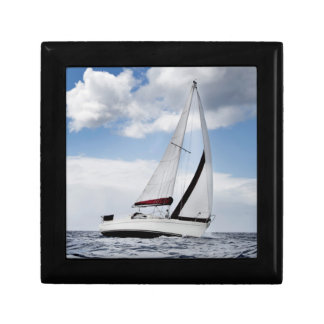 Yacht Sailing In Open Sea Gift Box