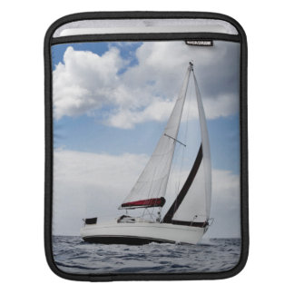 Yacht Sailing In Open Sea Sleeve For iPads