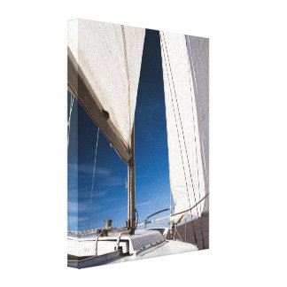 Yacht sails and sky canvas print