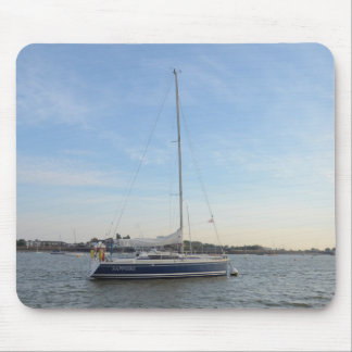 Yacht Sapphire Mouse Pad