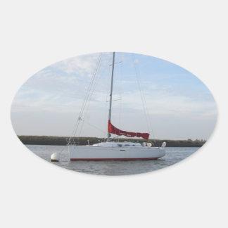 Yacht Scarlet Jester Oval Sticker