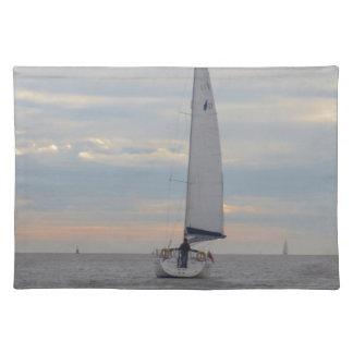 Yacht Sparrow At Dawn Cloth Place Mat
