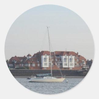 Yacht Stampede Classic Round Sticker