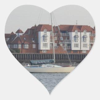Yacht Stampede Heart Sticker