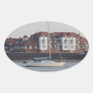 Yacht Stampede Oval Sticker