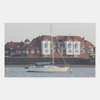 Yacht Stampede Rectangular Sticker