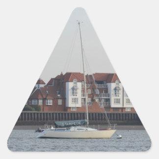 Yacht Stampede Triangle Sticker