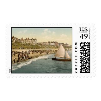 Yacht Starting, Clacton-on-Sea, Essex, England Postage Stamp