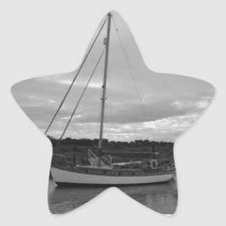 Yacht Thruppence Star Sticker