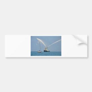 Yacht Zig Zag And Tug Bumper Stickers
