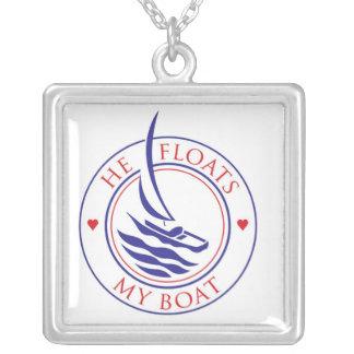 YachTees_He Floats My Boat charm pendant