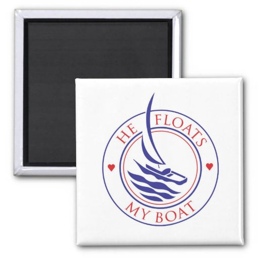 Yachtees_He Floats My Boat Magnet