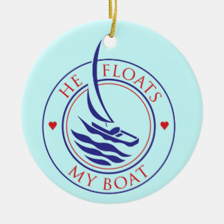 YachTees_He Floats My Boat necklace Ceramic Ornament