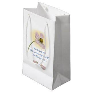 """YachTees_""""He Loves Me, He Loves My Yacht"""" Small Gift Bag"""