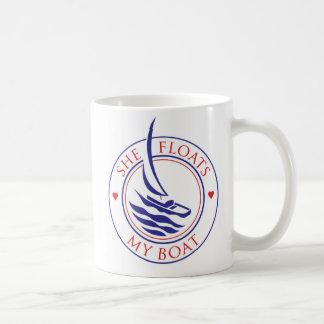YachTees_She Floats My Boat mug