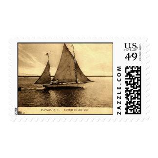 Yachting on Lake Erie, Buffalo NY 1909 vintage Postage