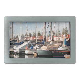 Yachts and reflections in water,Australia Rectangular Belt Buckle