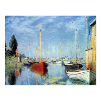 Yachts at Argenteuil by Claude Monet Postcard