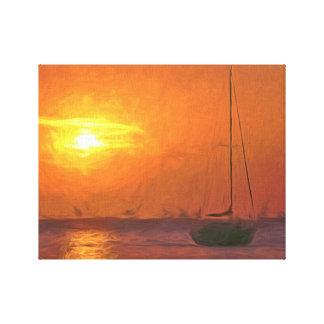 Yachts at Sunset Canvas Print
