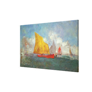 Yachts in a Bay Canvas Print