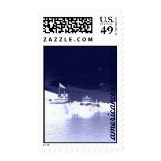 Yachts in Harbor (Navy) Postage