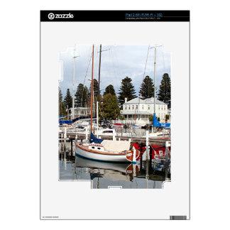 Yachts in marina, Port Fairy, Victoria, Australia iPad 2 Decals