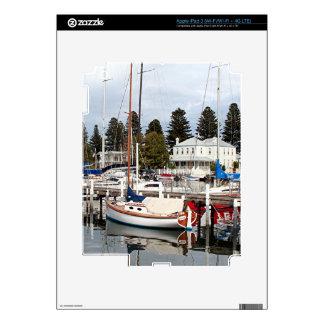 Yachts in marina, Port Fairy, Victoria, Australia iPad 3 Skins