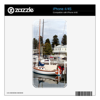 Yachts in marina, Port Fairy, Victoria, Australia iPhone 4 Skins