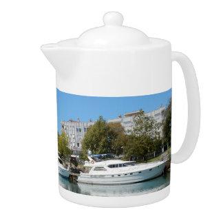 Yachts in Turkey Teapot
