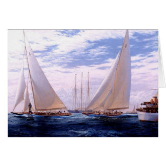 Yachts leaving harbour card