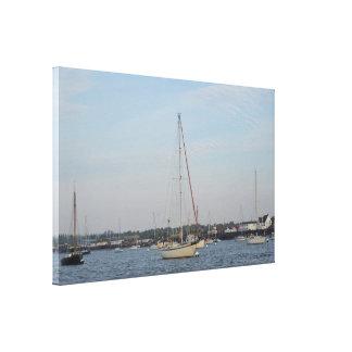 Yachts Mahala, William And Traigh Canvas Print